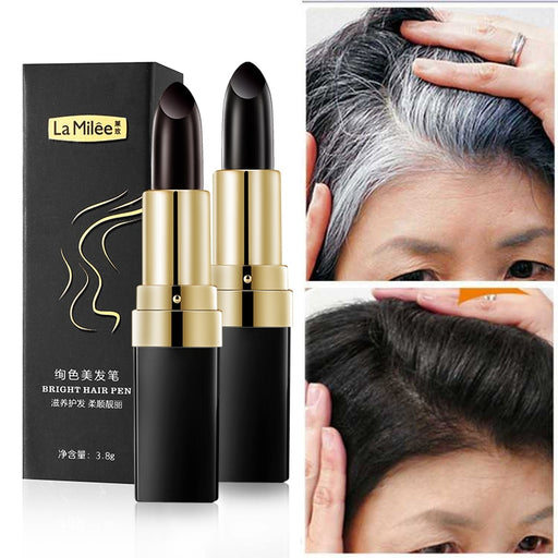 One-Time Hair dye Instant Gray Root Coverage Hair Color Modify Cream Stick-Beauty Instrument-LuxylGroup, Inc.