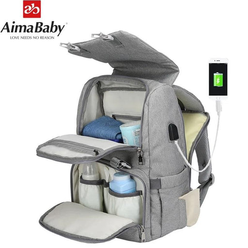 Baby Diaper Bag With USB Interface Large-LuxylGroup, Inc.