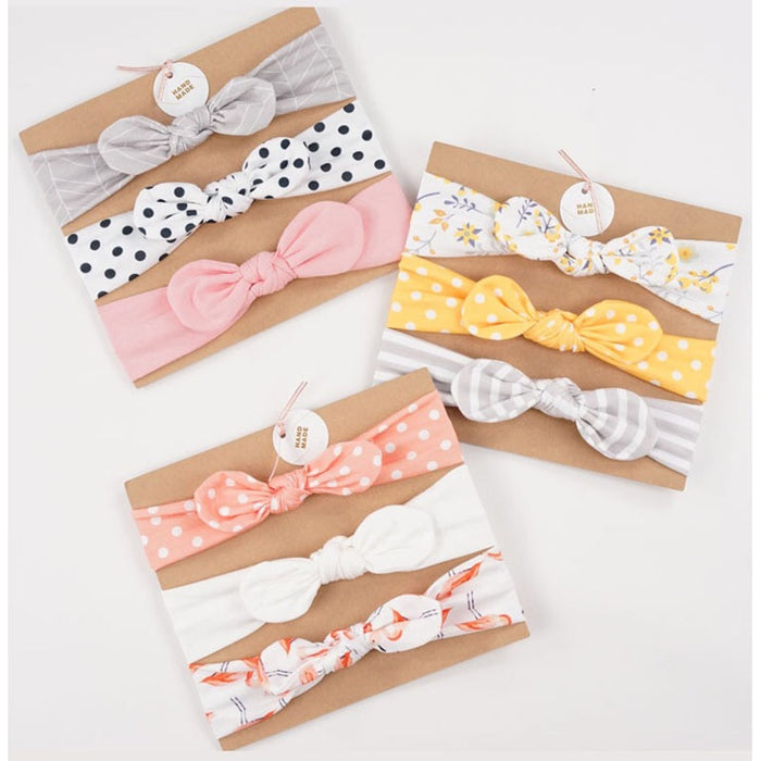 3pcs/set Baby Headband Girls Hair Accessories Cotton-LuxylGroup, Inc.
