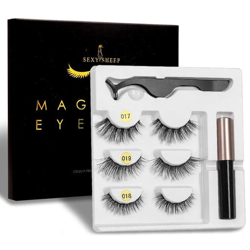 Magnet Natural Long Magnetic False Eyelashes With Magnetic Eyeliner-False Eyelash-LuxylGroup, Inc.