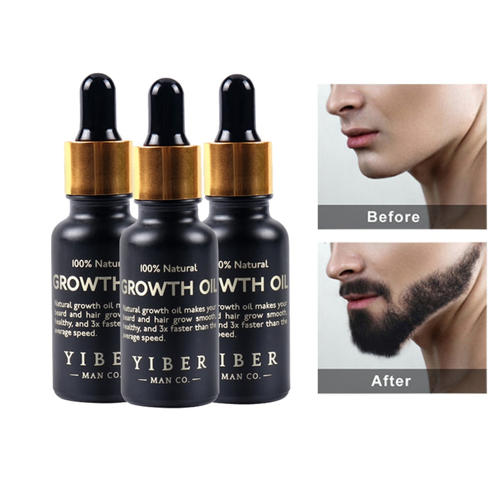 Men Beard Growth Oil Kit-Beauty Instrument-LuxylGroup, Inc.