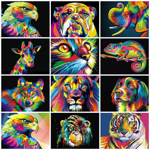 Paints By Numbers Animals 50x40cm Pictures Oil Painting Wall Set-LuxylGroup, Inc.