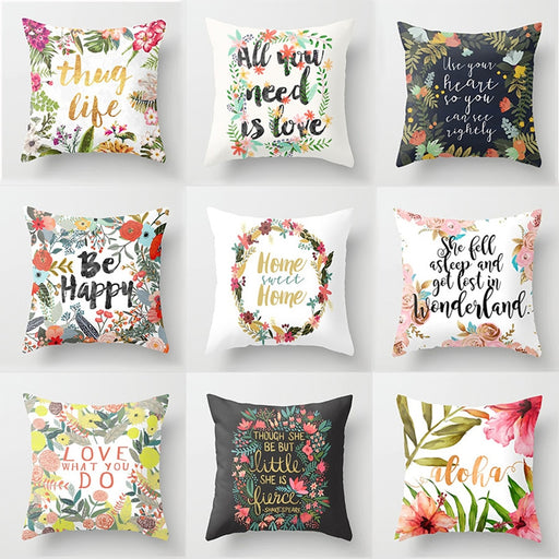 Signature Flower Cushion Cover Series-LuxylGroup, Inc.