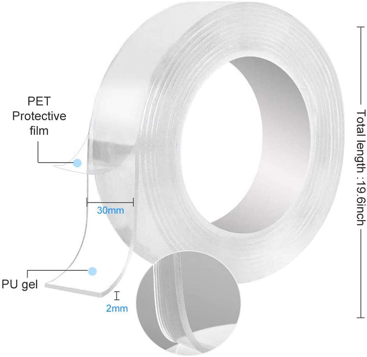 Transparent Magic Nano Tape Double-Sided Tape Adhesive-LuxylGroup, Inc.