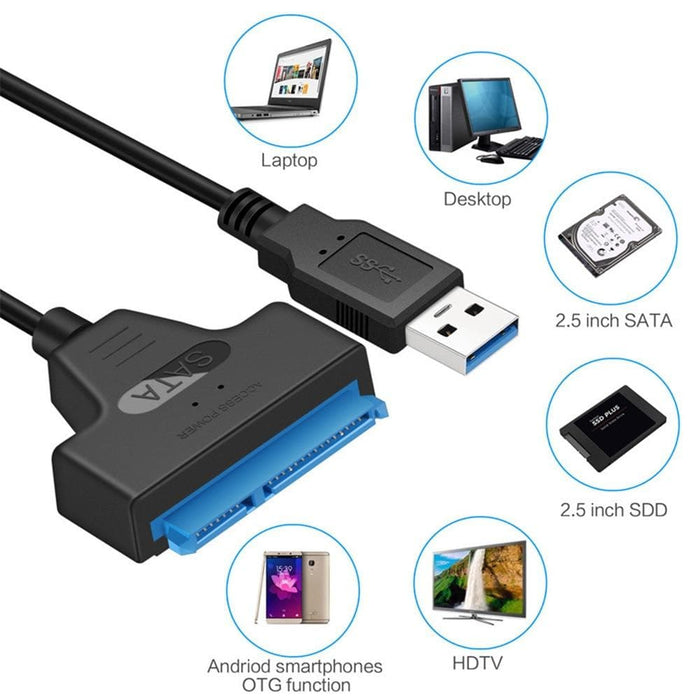 Up To 6 Gbps Support Sata USB Adapter-SATA Cables-LuxylGroup, Inc.