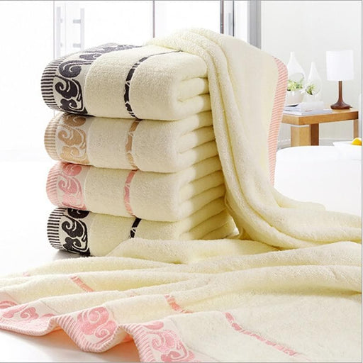 Cloud Pattern Embroidered Bath Towel-Bath Towel-LuxylGroup, Inc.