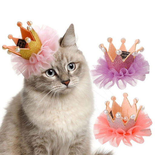 Cute Lace Princess Crown Cat Hair Clip - LuxylGroup