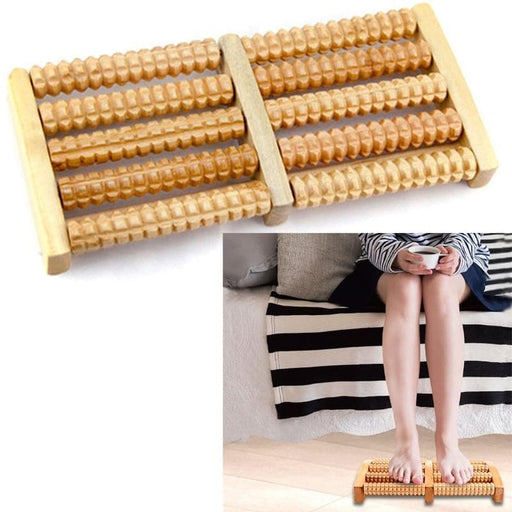 Wooden Foot Massager Roller-Massage & Relaxation-LuxylGroup, Inc.