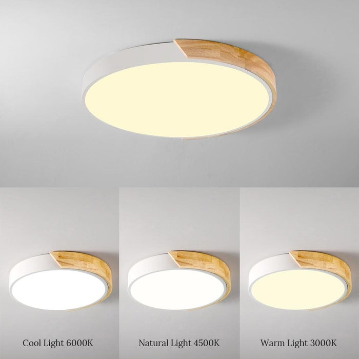 Nordic Wood LED Ceiling Lights-Ceiling Lights-LuxylGroup, Inc.
