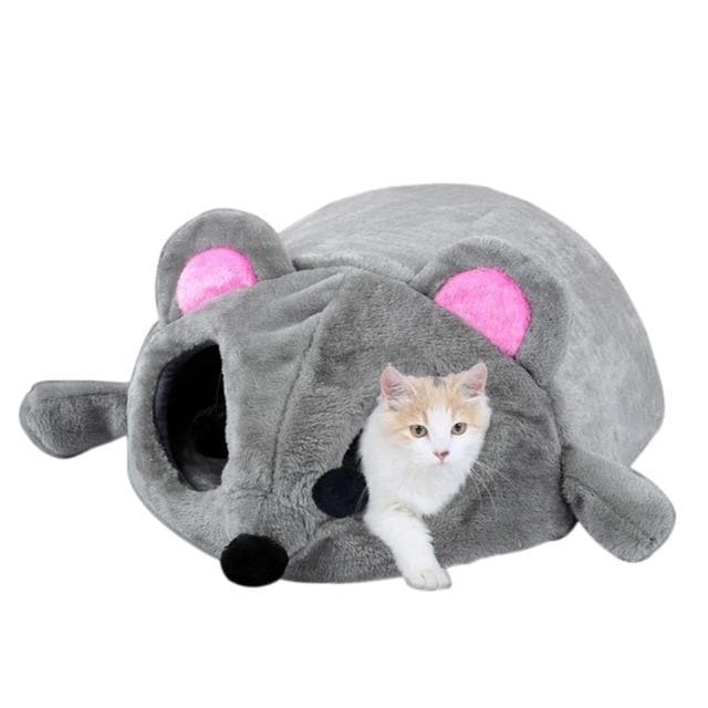 Coral Fleece Waterproof Mouse Form Cats Bed-Cats Bed-LuxylGroup, Inc.