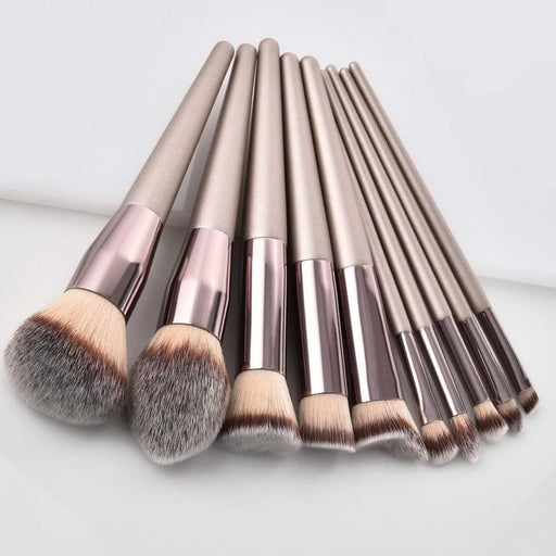 Luxury Champagne Makeup Brushes Set - LuxylGroup