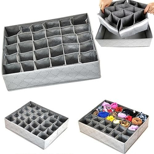 Non-woven Fabric Drawer Organizer Storage Box-Drawer Organizers-LuxylGroup, Inc.