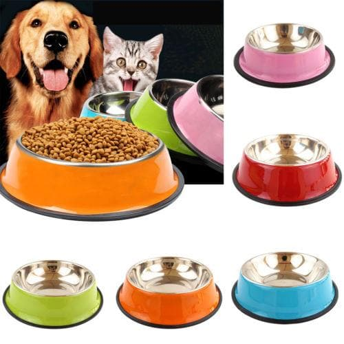 Anti Skid Stainless Steel Travel Feeding Bowl - LuxylGroup