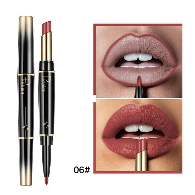 Double Ended Matte Lip Liner Lipstick - LuxylGroup