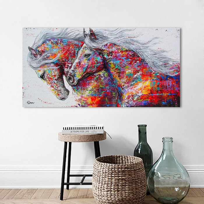 The Horses Wall Art Canvas Pictures-Canvas Printings-LuxylGroup, Inc.