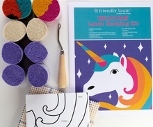 Load image into Gallery viewer, Unicorn Latch Hooking Kit