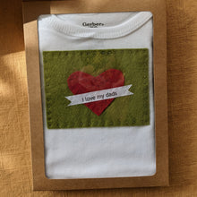 Load image into Gallery viewer, Felt appliqued baby onesies