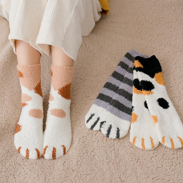 Thick Warm Cute Cat Claw Floor Socks