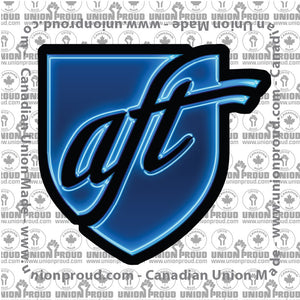 AFT Blue Glow Logo Decal
