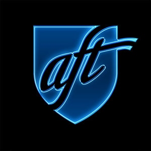 AFT Blue Glow Logo Apparel