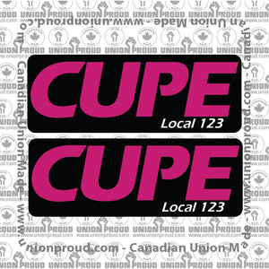 CUPE Plain Logo Decal