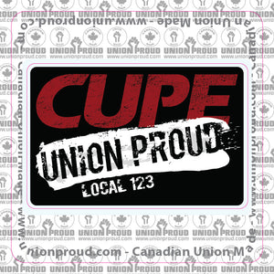 CUPE Union Proud Splatter Decal