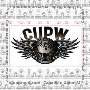 CUPW Steel Wings Decal