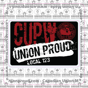 CUPW Union Proud Splatter Decal