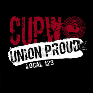 CUPW Union Proud Splatter Apparel