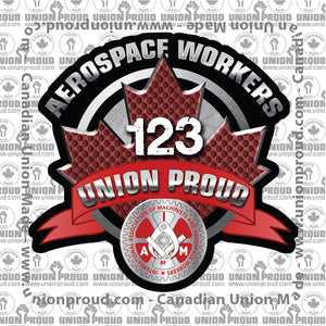 Aerospace Worker Round Canada Decal