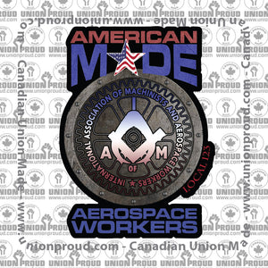 Aerospace Worker Round America Decal