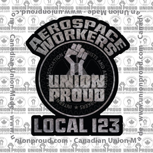 Aerospace Worker Iron Fist Decal