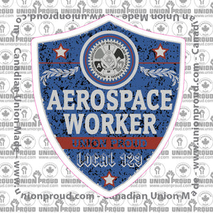 IAM Aerospace Worker Blue Badge Decal