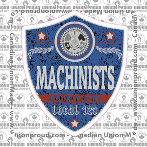 IAM Machinist Blue Badge Decal