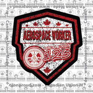 Aerospace Worker Canada Shield Decal