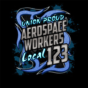 Aerospace Worker Blue Metal Apparel
