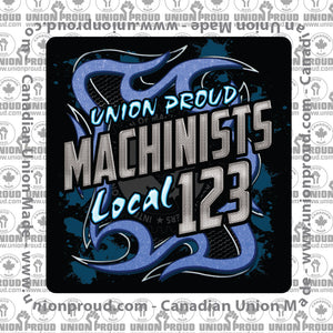 Machinist Blue Metal Decal