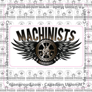 Machinists Steel Wings Decal