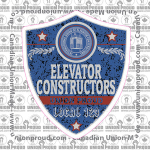 Elevator Constructors Blue Badge Decal