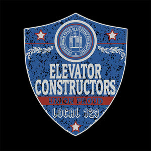 Elevator Constructors Blue Badge Apparel
