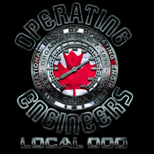 IUOE Canada Scraped Metal Apparel