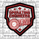 Operating Engineers Canada Shield Union Decal