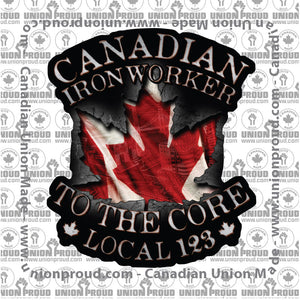 Ironworkers Canadian to the Core Decal