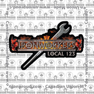 Ironworkers Dragon & Sword Decal