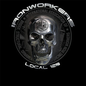 Ironworkers Chrome Skull Apparel