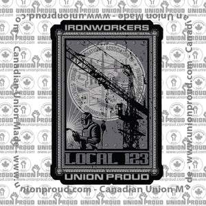 Ironworkers Collage Decal