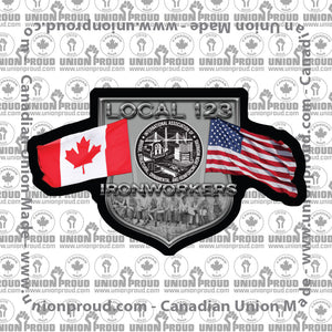 Ironworkers Canada/US United Union Decal