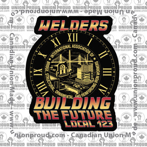 IW Welders Future Union Decal