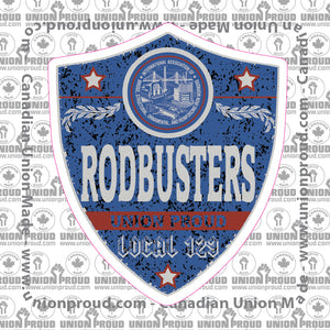 IW Rodbusters Blue Badge Decal