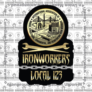 Ironworkers Chain Union Decal
